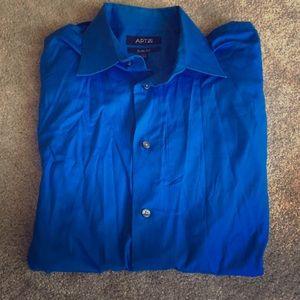 Apt. 9 Blue Men's Slim Fit Dress Shirt